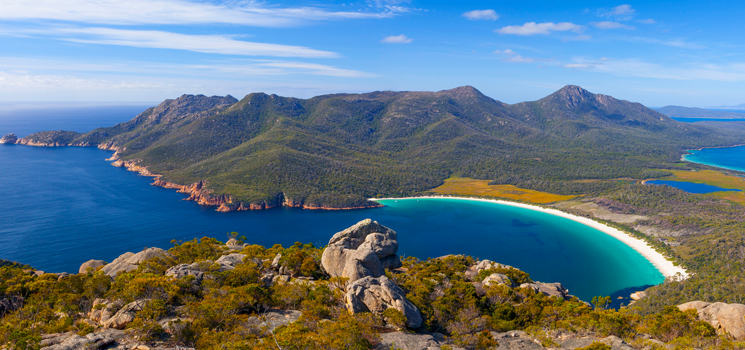 Tasmania, Wineglass Bay, Australia, Beach, Freycinet National Park
